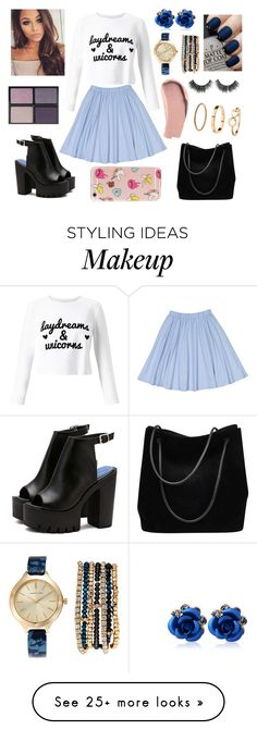 """""""Skirts & Sweaters"""" by marip25 on Polyvore featuring Miss Selfridge, H&M, OPI, Adrienne Vittadini, Tom Ford, Burberry, Gucci, The Casery, skirt and Sweater"""