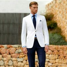 Formal Man White Business Wear Groom Tuxedos Men Suits for Wedding Wide Peaked Lapel Male Jacket Costume Homme Trajes De Hombre Men Suits for Weding Groom Wedding Tuxedo Costome Homme Terno Masulino Online with $119.77/Piece on Realsuits's Store | DHgate.com