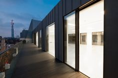 Structural glass elements were installed onto this building to create tons of natural light.