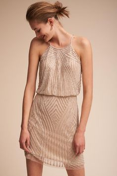 Champagne Grand Central Dress | BHLDN