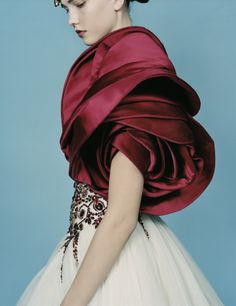 Fashion forward satin. --- oh my God, gorgeous embellishments