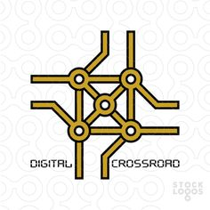 Exclusive Customizable Logo For Sale: Digital crossroad | StockLogos.com