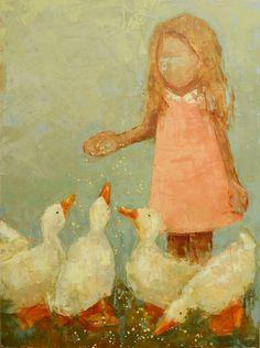 Ducks, Oil, Rebecca Kinkead ($4,800)
