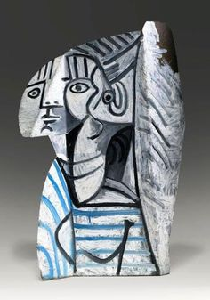Sylvette by Pablo Picasso, 1954. Painted metal.
