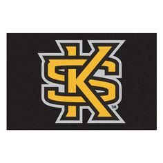 Ncaa Kennesaw State University Black 1 ft. 7 in. x 2 ft. 6 in. Accent Rug