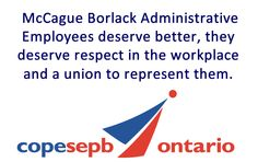 The COPE union also considered the topic of fingerprinting employees at McCAGUE BORLACK, the only law  firm in Ontario demanding a fingerprint from secretaries.  COPE found the whole thing appalling.