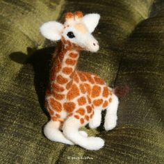 Sweet Baby Giraffe by Glynis of Felt Pets