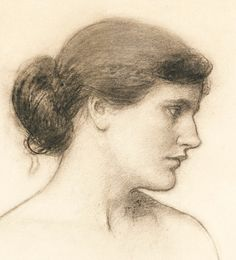 John William Waterhouse, Head study, probably for Tale from the Decameron (1915)
