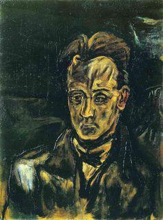 Portrait of the Composer Anton von Webern by Oskar Kokoschka