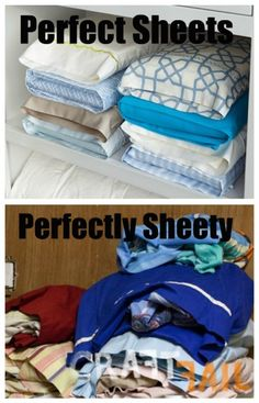 Pinterest Fail / Craft Fail - Martha Stewart, organization, sheets, linen closet, storage
