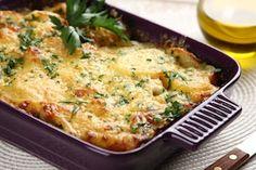 Ziemniaczana zapiekanka z kurczakiem Carnitas Recipe, Dessert Recipes, Desserts, Grill Pan, Bon Appetit, Mashed Potatoes, Macaroni And Cheese, Grilling, Chicken