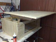 DIY Coffee table with internal lift mechanism
