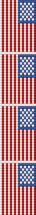 american flag loom bracelet | Flickr - Photo Sharing!
