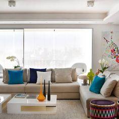Sala de estar : Moderne Wohnzimmer von Thaisa Camargo Arquitetura e Interiores