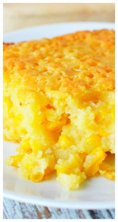 Sweet Corn Casserole Recipe Sweet corn casserole combines creamed corn into a southern homemade side dish easily done from scratch Typically served on a Thanksgiving tab. Best Thanksgiving Recipes, Thanksgiving Cakes, Holiday Recipes, Thanksgiving Casserole, Family Recipes, Sweet Corn Casserole, Cornbread Casserole, Casserole Recipes, Cream Corn Casserole