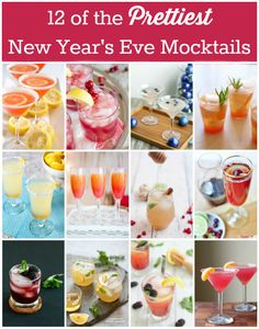 12 of the Prettiest New Years Eve Mocktails #NYE #NewYearsEve #mocktail @emihill