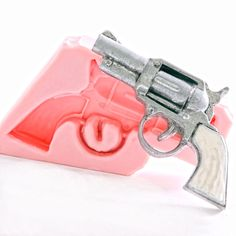 Pistol Silicone Mould Mold Fondant Chocolate Soap Wax Candle Resin Clay  (905) #FDAFoodSafeApprovedSilicone