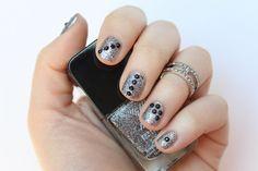 Black & Silver Glitter Nails | #LivingAfterMidnite