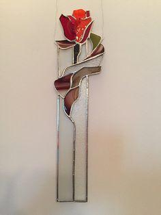 Items op Etsy die op Gebrandschilderd glas bloem, Rose lijken