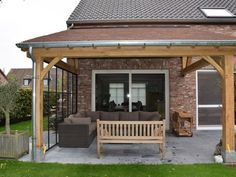 Amazing Landscaping Ideas for Small Backyards Back Patio, Patio Roof, Pergola Patio, Gazebo, Decks, Backyard Water Feature, Pergola Curtains, House Deck, Small Backyard Landscaping