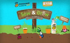 Innocent Sow and Grow campaign for kids Innocent Drinks, Worms, Ireland, Campaign, Kids, Young Children, Children, Kid, Children's Comics