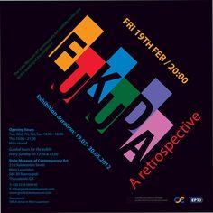 Invitation_Fukuda_Retrospective by Nancy Skerletidou, via Behance