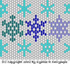 peyote stitch snowflake pattern