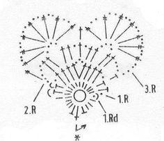 lo spazio di lilla: Cuori all'uncinetto: schemi dal web / Crochet hearts: diagrams from the web