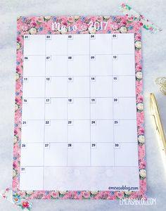 Planner Mensal de Maio 2017