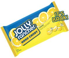 It's back - JOLLY RANCHER Lemon Hard Candy. This much-loved flavor is available in an all-lemon bag.
