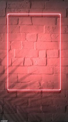 premium image of Neon red frame on a brick wall 894328 Framed Wallpaper, Phone Screen Wallpaper, Neon Wallpaper, Graphic Wallpaper, Aesthetic Iphone Wallpaper, Aesthetic Wallpapers, Brick Wall Wallpaper, Pink Nation Wallpaper, Wallpaper Quotes