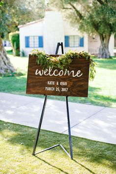La Quinta Resort Wedding // Lucky Day Events Co. // Josh Elliott Photography // Southern California Wedding Planners // Wooden Sign