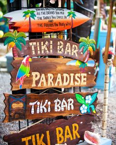 Which Way Tiki Bar Art Print