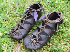 Chaussures de fée en cuir végétal - sur commande de Tête de LiNoTh sur DaWanda.com