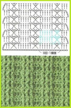 One of my favorites ✿ crochet stitches ✿