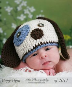 Puppy Dog Crochet Hat
