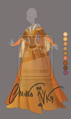 :: Adoptable Bronze Outfit: AUCTION OPEN :: by VioletKy on DeviantArt