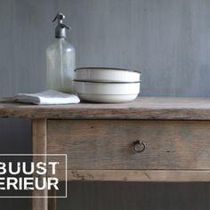 #tafel#wastafel#badmeubel#badkamer#oud#hout#eiken#robuust#stoer#landelijk#lades#