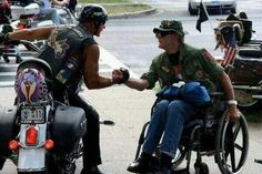 Love this photo from 9-11 2 Million Biker March on DC. This is America.