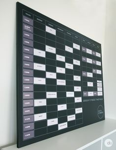 Workout Planner, Fitness Timetable, Fitness Class Timetable, Group Fitness Board, Blackboard, Sista Fitness, Magnets