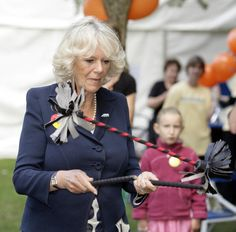 The Duchess of Cornwall plays the devilstick