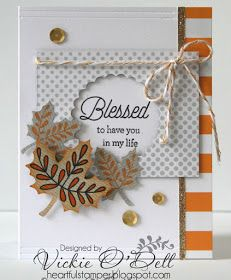When I saw the lovely sentiments in the CTMH September Stamp of the Month, I couldn't wait to try them.If I had the stamina and knew the a...