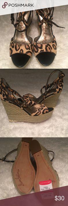 Sam Edelman Leopard print wedges Never worn leopard print wedges from Nordstrom Rack Sam Edelman Shoes Wedges