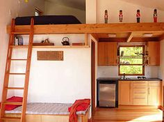 31 tiny house hacks....add a sleeping or reading nook anywhere and everywhere