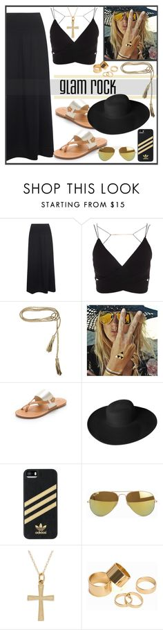 """""""Glam Rock"""" by biange ❤ liked on Polyvore featuring Oska, ADA Collection, Flash Tattoos, Soludos, Dorfman Pacific, adidas, Ray-Ban and Pieces"""