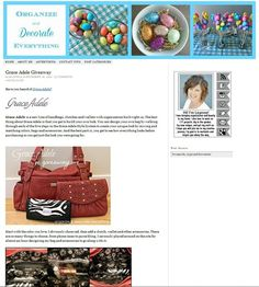 @Leanne Jacobs from Organize and Decorate Everything takes her readers on a tour of her Grace Adele Bag and how she styled it!