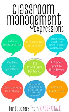 Classroom Management Expressions