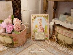 2016 Victorian Calendar - Ephemera - Marie-Antoinette - Accessory for dollhouse miniature scale 1:12 th