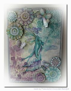 Hi there, Some of the Summer fairies of Chocolate Baroque which I did not showed yet to you. It was fun working with them. Lavinia Stamps, Hand Stamped Cards, Atc Cards, Art Impressions, Butterfly Cards, Artist Trading Cards, Fairy Art, Mixed Media Canvas, Art Journals