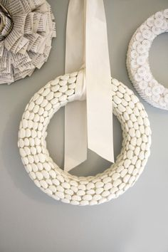 Textured Wreaths- Lima Beans! Who would have thought they could be so elegant?
